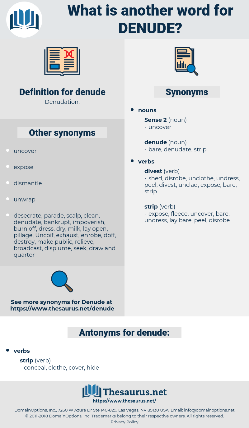 denude, synonym denude, another word for denude, words like denude, thesaurus denude