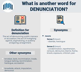 denunciation, synonym denunciation, another word for denunciation, words like denunciation, thesaurus denunciation