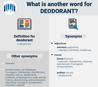 deodorant, synonym deodorant, another word for deodorant, words like deodorant, thesaurus deodorant