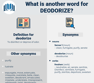 deodorize, synonym deodorize, another word for deodorize, words like deodorize, thesaurus deodorize