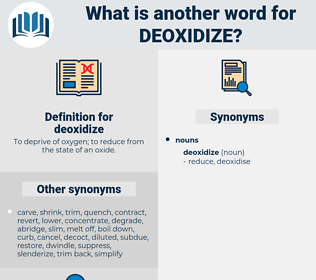 deoxidize, synonym deoxidize, another word for deoxidize, words like deoxidize, thesaurus deoxidize