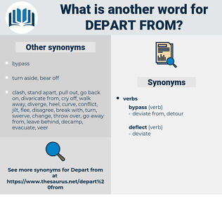depart from, synonym depart from, another word for depart from, words like depart from, thesaurus depart from
