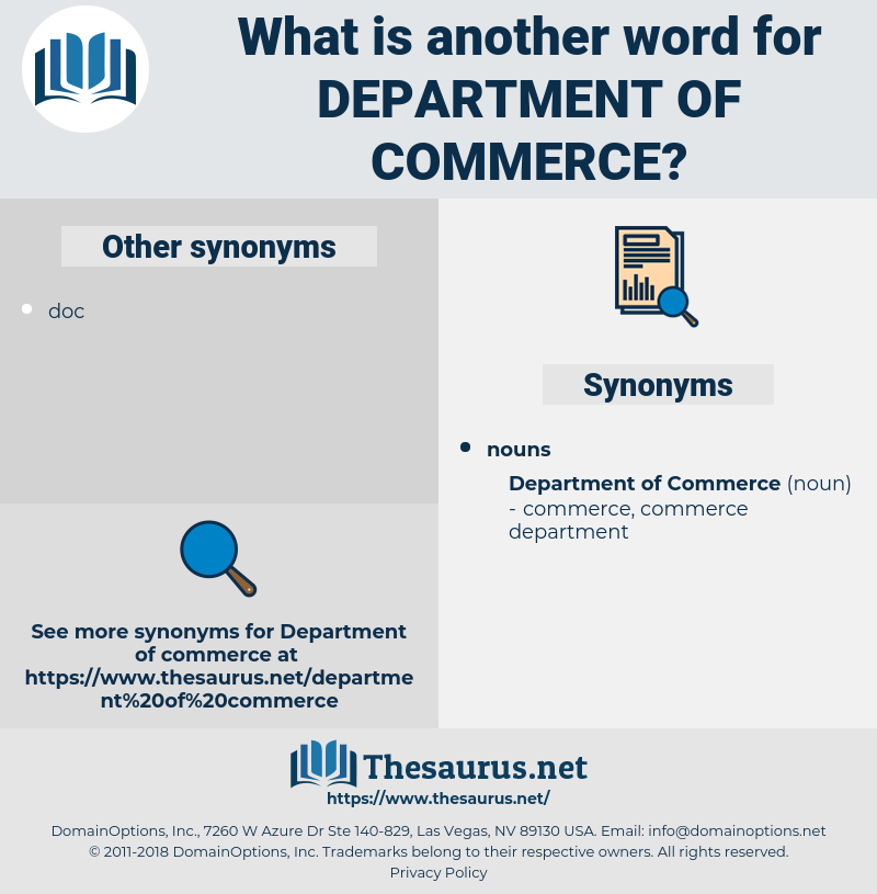 department of commerce, synonym department of commerce, another word for department of commerce, words like department of commerce, thesaurus department of commerce