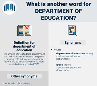 department of education, synonym department of education, another word for department of education, words like department of education, thesaurus department of education