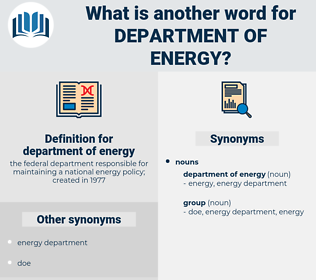 department of energy, synonym department of energy, another word for department of energy, words like department of energy, thesaurus department of energy