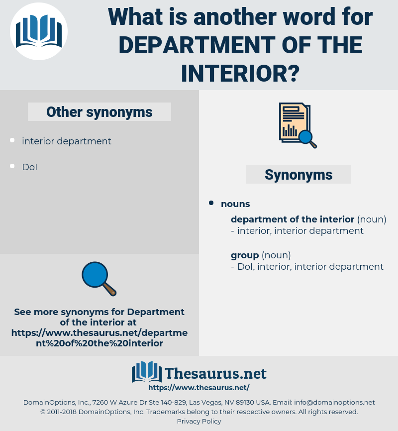 department of the interior, synonym department of the interior, another word for department of the interior, words like department of the interior, thesaurus department of the interior