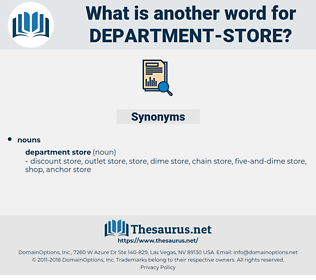 department store, synonym department store, another word for department store, words like department store, thesaurus department store