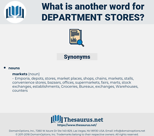 department stores, synonym department stores, another word for department stores, words like department stores, thesaurus department stores