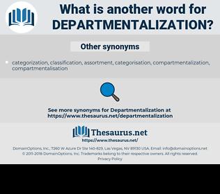 departmentalization, synonym departmentalization, another word for departmentalization, words like departmentalization, thesaurus departmentalization