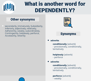 Dependently, synonym Dependently, another word for Dependently, words like Dependently, thesaurus Dependently