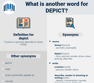 depict, synonym depict, another word for depict, words like depict, thesaurus depict