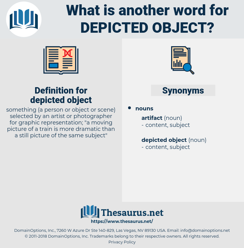 depicted object, synonym depicted object, another word for depicted object, words like depicted object, thesaurus depicted object