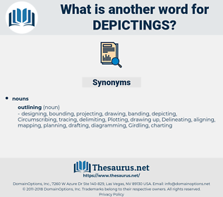depictings, synonym depictings, another word for depictings, words like depictings, thesaurus depictings