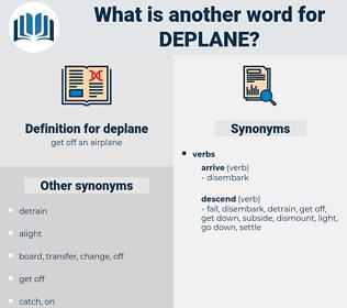 deplane, synonym deplane, another word for deplane, words like deplane, thesaurus deplane