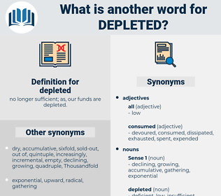 depleted, synonym depleted, another word for depleted, words like depleted, thesaurus depleted