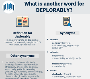 deplorably, synonym deplorably, another word for deplorably, words like deplorably, thesaurus deplorably