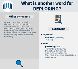 Deploring, synonym Deploring, another word for Deploring, words like Deploring, thesaurus Deploring
