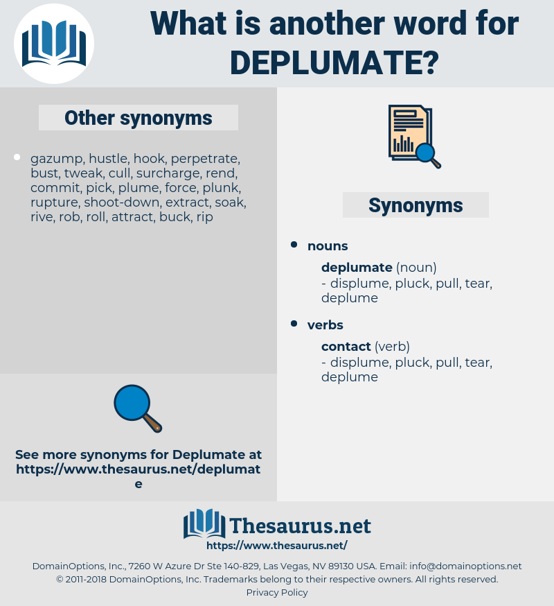 deplumate, synonym deplumate, another word for deplumate, words like deplumate, thesaurus deplumate
