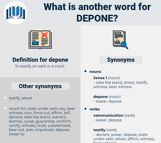 depone, synonym depone, another word for depone, words like depone, thesaurus depone