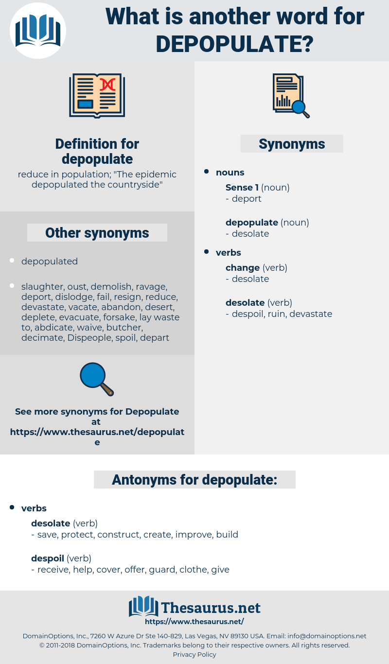 depopulate, synonym depopulate, another word for depopulate, words like depopulate, thesaurus depopulate