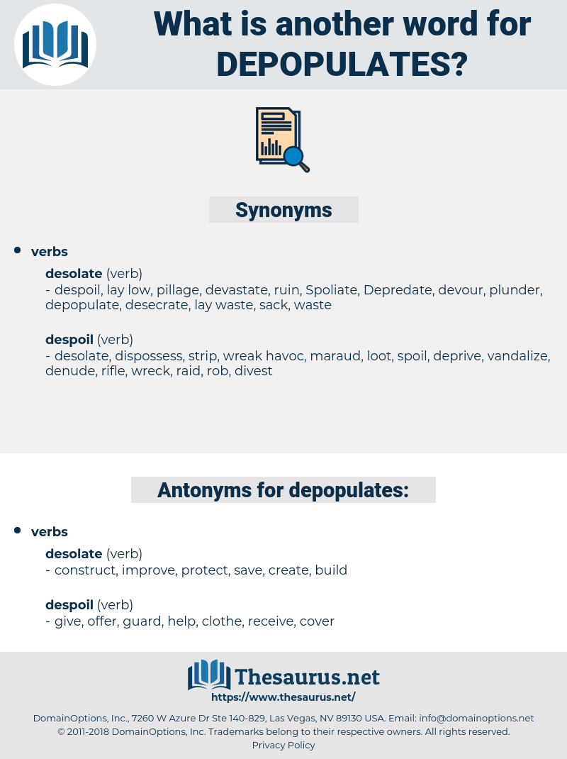 depopulates, synonym depopulates, another word for depopulates, words like depopulates, thesaurus depopulates