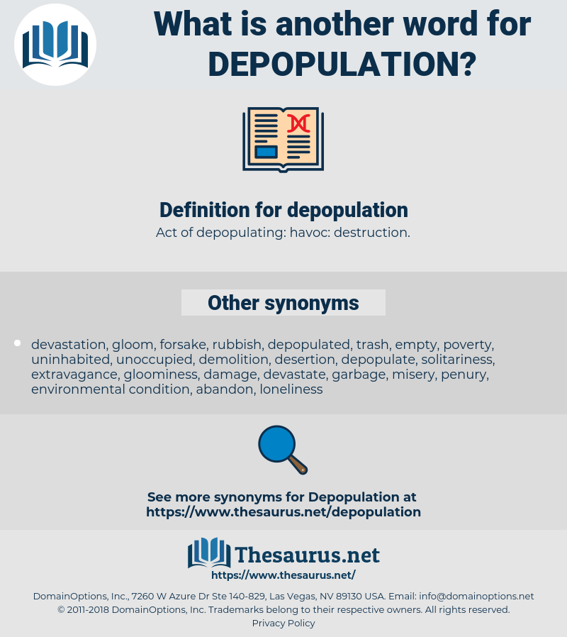depopulation, synonym depopulation, another word for depopulation, words like depopulation, thesaurus depopulation