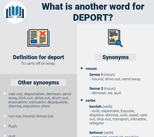 deport, synonym deport, another word for deport, words like deport, thesaurus deport