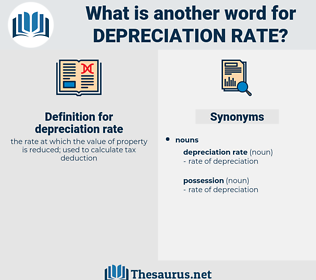 depreciation rate, synonym depreciation rate, another word for depreciation rate, words like depreciation rate, thesaurus depreciation rate