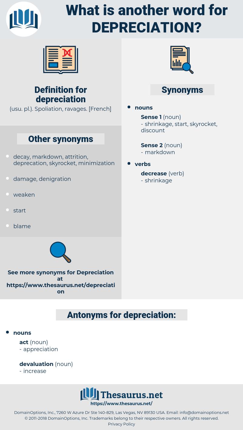 depreciation, synonym depreciation, another word for depreciation, words like depreciation, thesaurus depreciation