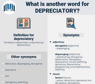 depreciatory, synonym depreciatory, another word for depreciatory, words like depreciatory, thesaurus depreciatory