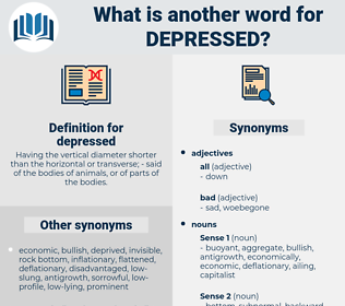 depressed, synonym depressed, another word for depressed, words like depressed, thesaurus depressed