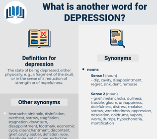 depression, synonym depression, another word for depression, words like depression, thesaurus depression