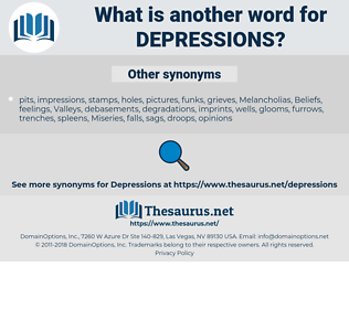 Depressions, synonym Depressions, another word for Depressions, words like Depressions, thesaurus Depressions