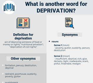 deprivation, synonym deprivation, another word for deprivation, words like deprivation, thesaurus deprivation