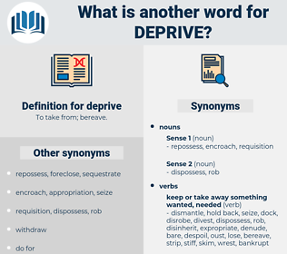 deprive, synonym deprive, another word for deprive, words like deprive, thesaurus deprive