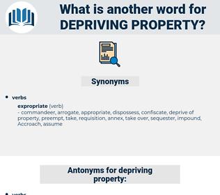 depriving property, synonym depriving property, another word for depriving property, words like depriving property, thesaurus depriving property