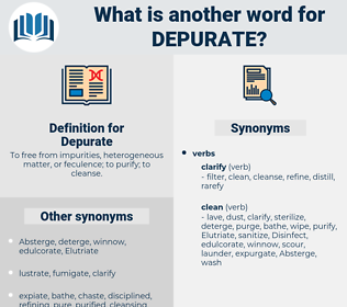 Depurate, synonym Depurate, another word for Depurate, words like Depurate, thesaurus Depurate