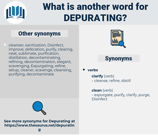 Depurating, synonym Depurating, another word for Depurating, words like Depurating, thesaurus Depurating