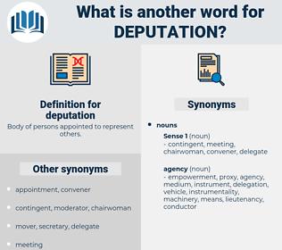 deputation, synonym deputation, another word for deputation, words like deputation, thesaurus deputation