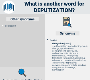 deputization, synonym deputization, another word for deputization, words like deputization, thesaurus deputization