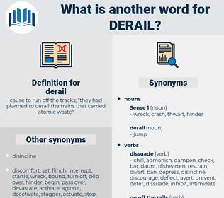 derail, synonym derail, another word for derail, words like derail, thesaurus derail