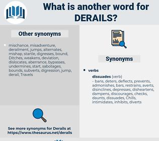 derails, synonym derails, another word for derails, words like derails, thesaurus derails