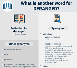 deranged, synonym deranged, another word for deranged, words like deranged, thesaurus deranged
