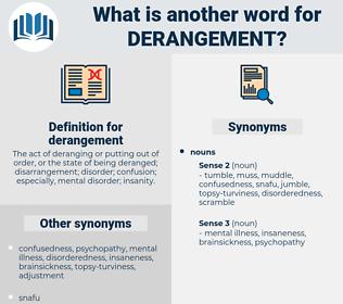 derangement, synonym derangement, another word for derangement, words like derangement, thesaurus derangement