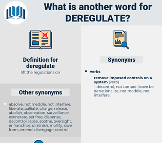 deregulate, synonym deregulate, another word for deregulate, words like deregulate, thesaurus deregulate
