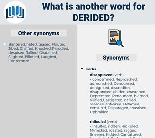 Derided, synonym Derided, another word for Derided, words like Derided, thesaurus Derided
