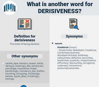 derisiveness, synonym derisiveness, another word for derisiveness, words like derisiveness, thesaurus derisiveness