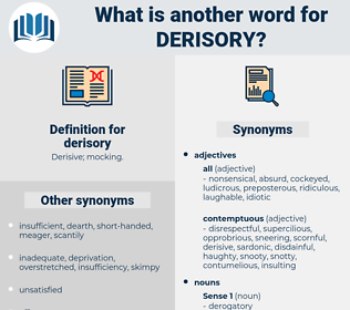 derisory, synonym derisory, another word for derisory, words like derisory, thesaurus derisory
