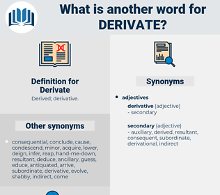 Derivate, synonym Derivate, another word for Derivate, words like Derivate, thesaurus Derivate