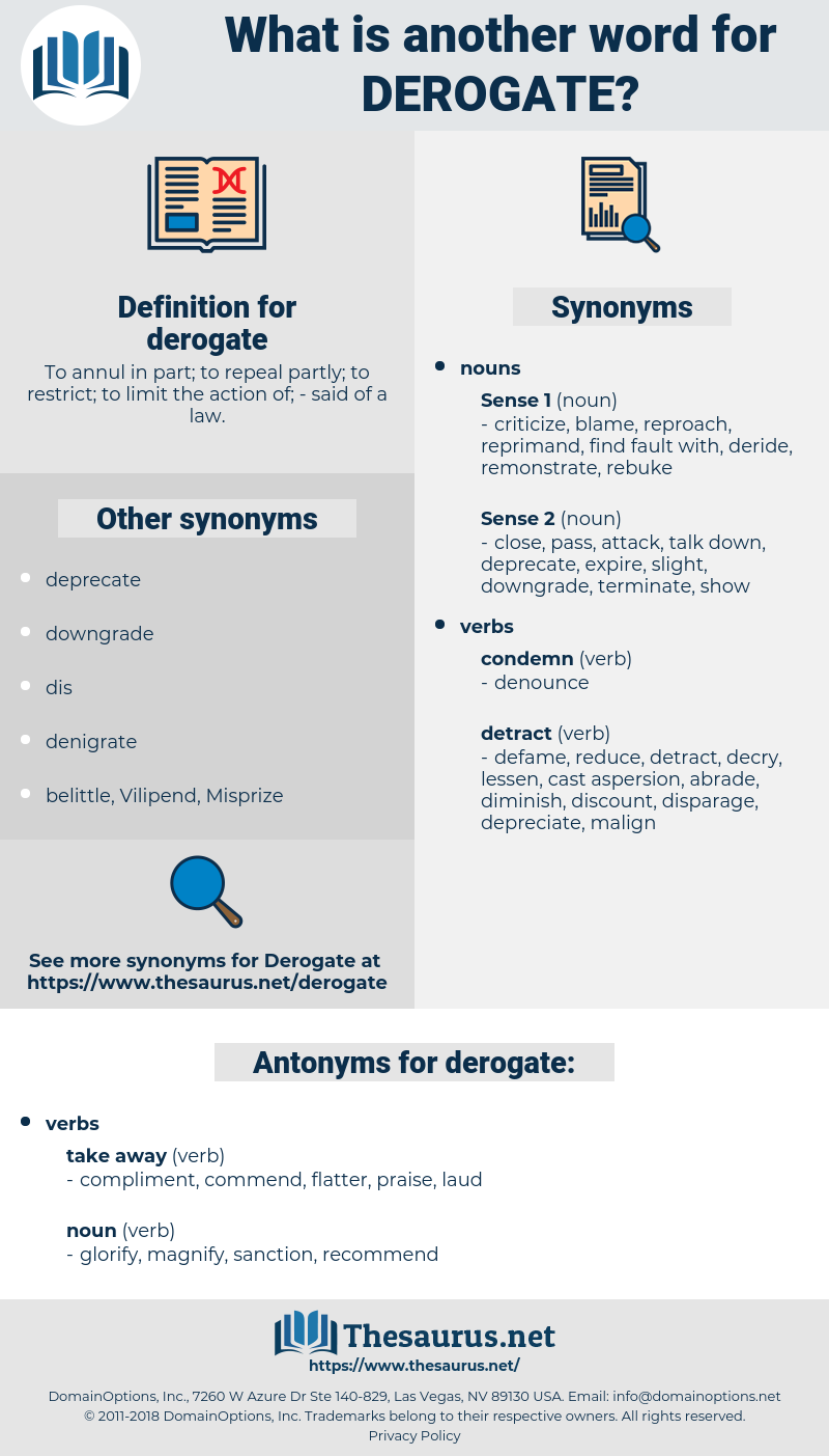 derogate, synonym derogate, another word for derogate, words like derogate, thesaurus derogate